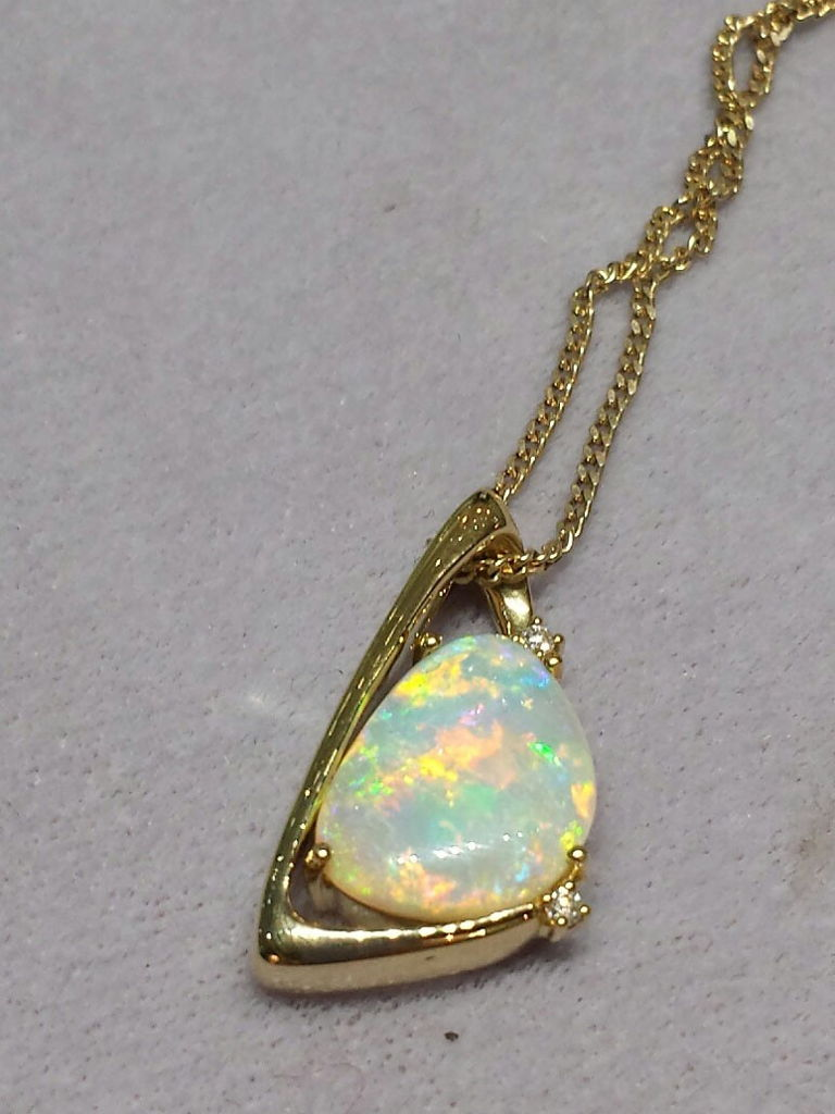 CRYSTAL OPALAnother view of the same exquisite opal pendant