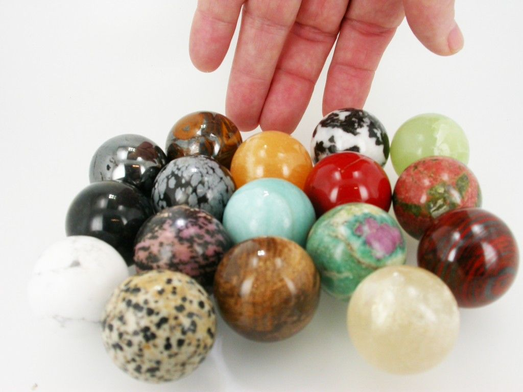 $10 30mm GEMSTONE SPHERES