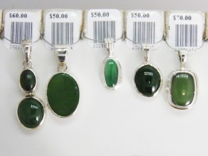 JADE sterling silver pendants