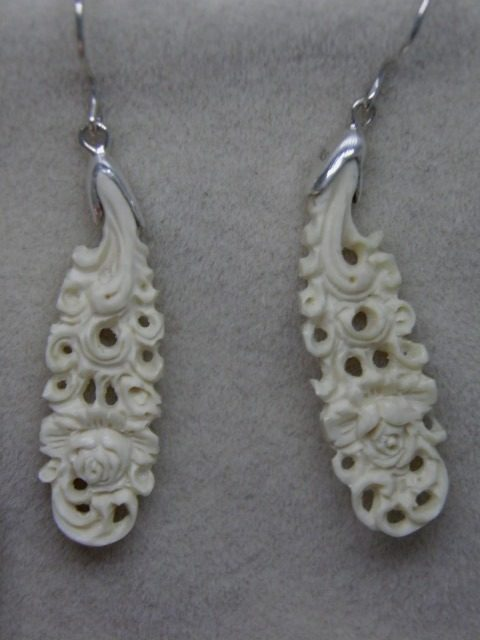 MAMMOTH IVORY silver earrings