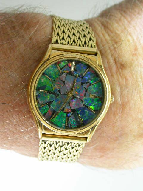 Opal watch made from opal from my last claim