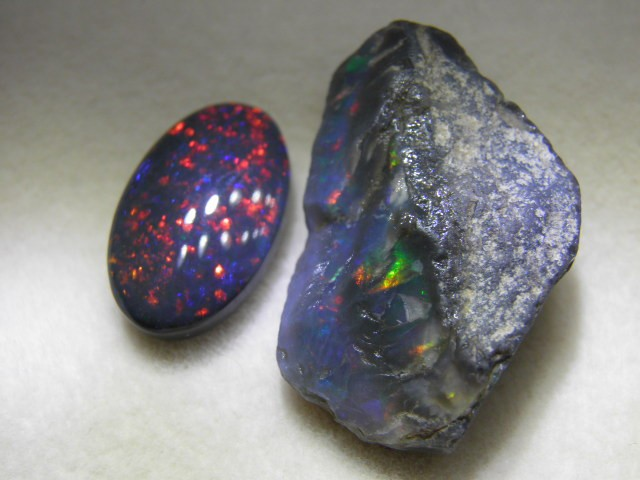 Jet Black Opal from our Jet Black Claim