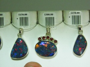 TRIPLET OPAL Set in sterling silver ($159-$399-$150)