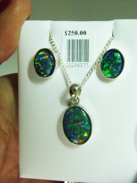 OPAL TRIPLET sterling silver matched set