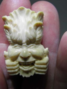 Mammoth Ivory Jewellery carving piece funny face...$60