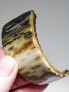Curved MAMMOTH IVORY polished bark (Ideal for a hand made bracelet...A$80