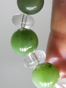 Close up JADE & CRYSTAL beads