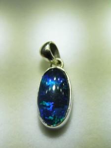 TRIPLET OPAL (14x8mm) sterling silver Code 20313166 A$120