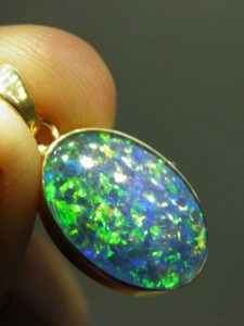 TRIPLET OPAL (20x13mm) Gold plated sterling silver Code 20329327 A$150