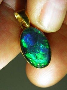 TRIPLET OPAL (16x10mm) Gold plated sterling silver Code 20329341 A$140