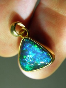 TRIPLET OPAL (13x12mm) Gold plated sterling silver Code 20329204 A$150