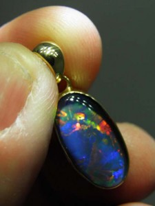 TRIPLET OPAL (16x10mm) Gold plated sterling silver Code 20329228 A$150