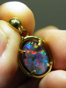 TRIPLET OPAL (14x10mm) Gold plated sterling silver Code 20322717 A$120