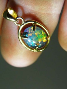 TRIPLET OPAL (10x8mm) Gold plated sterling silver Code 20322694 A$120