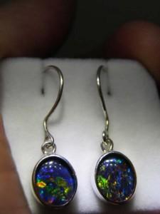 OPAL TRIPLET (10x8mm) sterling silver drops Code 20323172 A$100