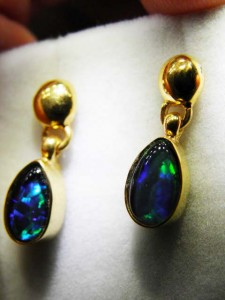 TRIPLET OPAL (8x5mm) gold plated sterling silver Code 20294205 A$60 A$