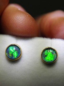 TRIPLET OPAL (6mm) gold plated sterling silver Code 20256920 A$50