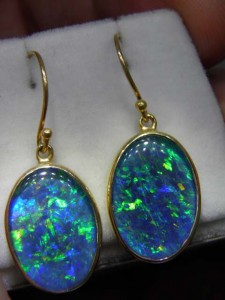 TRIPLET OPAL (18x13mm) gold plated sterling silver Code 20268442 A$300