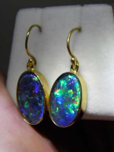 TRIPLET OPAL (16x10mm) gold plated sterling silver Code 20294045 A$300