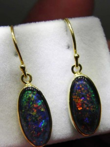 TRIPLET OPAL (16x8mm ) gold plated sterling silver Code 20301842 A$220