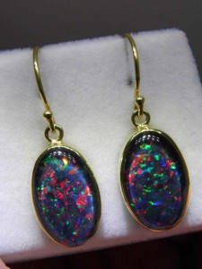 TRIPLET OPAL(14x10mm) gold plated sterling silver Code 20301842 A$220