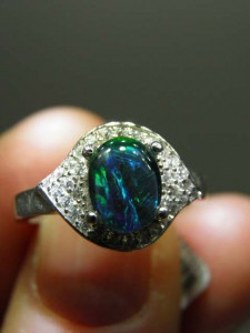 OPAL TRIPLET 9x7mm) sterling silver ring Code 20319144 A$100