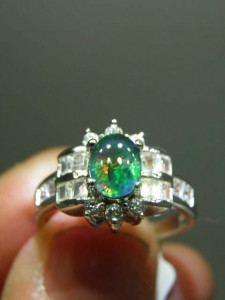 OPAL TRIPLET (8x6mm) sterling silver ring Code 20318758 A$130