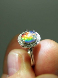 OPAL TRIPLET (8x6mm) sterling silver ring Code 20319144 A$100
