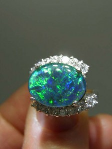 OPAL TRIPLET (16x12mm) sterling silver ring Code 20319229 A$200
