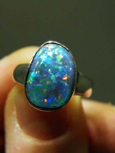 OPAL TRIPLET (14x10mm) sterling silver ring Code 20268480 A$180