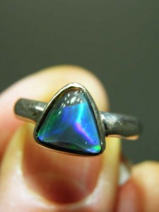 OPAL TRIPLET (10x9mm) sterling silver ring Code 20268503 A$150