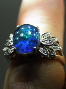 OPAL TRIPLET (10x8mm) sterling silver ring Code 20319410 A$120