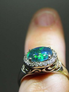 OPAL TRIPLET (9x7mm) sterling silver ring Code 20319410 A$120