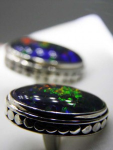 Side view sterling silver cufflinks A$350