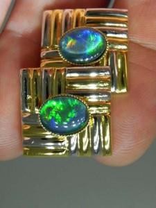 OPAL TRIPLET (10x8) Gold/Rhodium Cufflinks Code 20333829 A$120