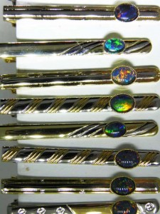 OPAL TRIPLET (8x6mm or 7x5mm) Gold/Rhodium plated tiebar Code 20334895 A$50
