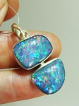 LARGE OPAL TRIPLET sterling silver pendant A$700