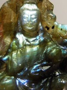 Close up of LABRADORITE Buddha A$100 Code 20271923