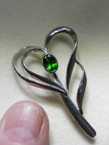 TOURMALINE Sterling silver brooch (38mm long) Code 20344993 A$150 A$150