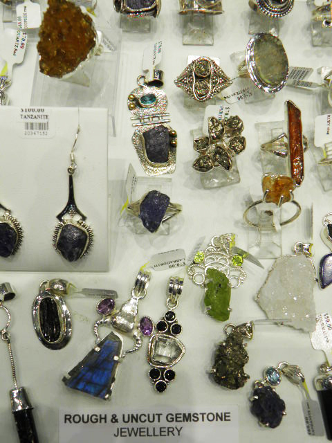 Rough (uncut) GEMSTONE/ CRYSTAL Sterling silver jewellery