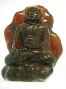 AMBER BUDDHA (Indonesian Amber) 87mm by 60mm by 50mm