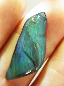 BLACK OPAL SEAL 11.4 carats A$150 Code252