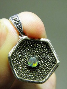 TRIPLET OPAL (4) Marcasite & Sterling silver Code 20349776 A$60