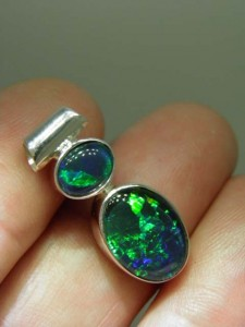 TRIPLET OPAL (14by10mm & 8x6mm) Sterling silver Code 20344450 A$220