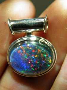 TRIPLET OPAL (16by12mm) Sterling silver Code 20343248 A$200