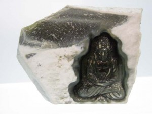 BUDDHA in ROUGH JADE