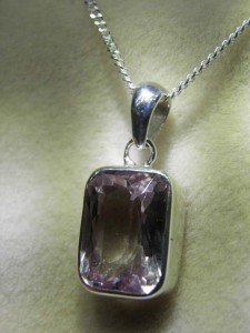 KUNZITE (14mm by 10mm) sterling silver Code 20331580 A$120