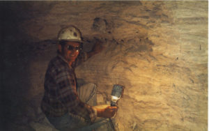 Peter inside the mine