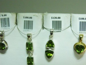 PERIDOT set in sterling silver Birthstone for August