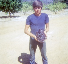Peter age 16 with one of his amethyst specimens